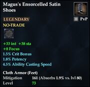 Magus's Ensorcelled Satin Shoes