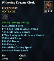 Withering Dreams Cloak