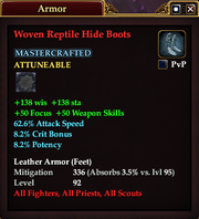 Woven Reptile Hide Boots