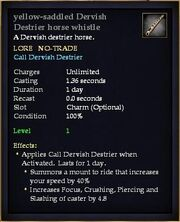 Yellow-saddled Dervish Destrier horse whistle
