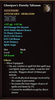 Ghostpaws Eternity Talisman