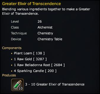 Greater Elixir of Transcendence Recipe