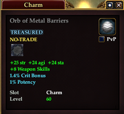 Orb of Metal Barriers