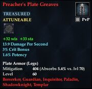 Preacher's Plate Greaves