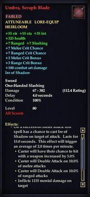 Umbra, Seraph Blade