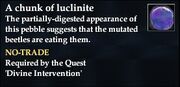 A chunk of luclinite