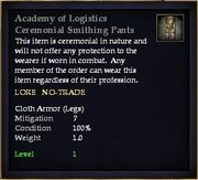 Academy of Logistics Ceremonial Smithing Pants