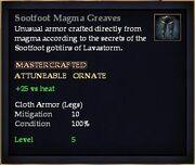 Sootfoot Magma Greaves