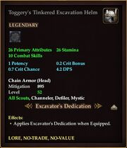 Toggery's Tinkered Excavation Helm