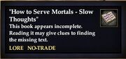 """""""How to Serve Mortals - Slow Thoughts"""""""