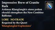 Impressive Brew of Granite Bark