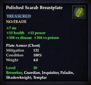 Polished Scarab Breastplate