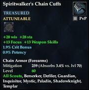 Spiritwalker's Chain Cuffs