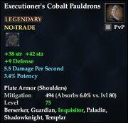 Executioner's Cobalt Pauldrons