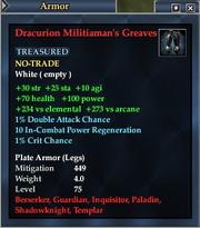 Dracurion Militiaman's Greaves