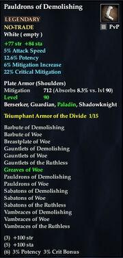 Pauldrons of Demolishing
