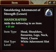 Smoldering Adornment of Strength (Lesser)