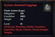 Feysteel chainmail leggings