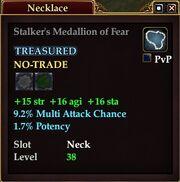 Stalker's Medallion of Fear