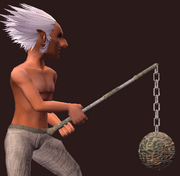 Ancient Combine Great Flail (Equipped)
