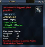 Awakened Scaleguard plate gauntlets