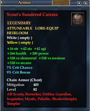 Scout's Sundered Cuirass