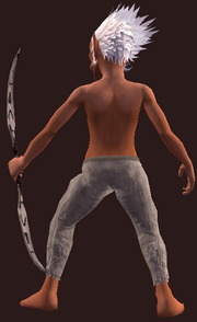 Wanderer's Worn Recurve Bow (Equipped)