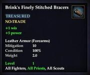 Brink's Finely Stitched Bracers