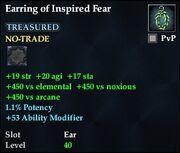 Earring of Inspired Fear