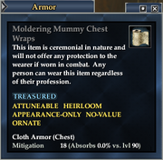 Moldering Mummy Chest Wraps