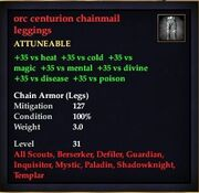 Orc centurion chainmail leggings