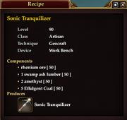 Sonic Tranquilizer (Recipe)