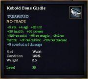 Kobold Bone Girdle