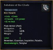 Sabatons of the Glade