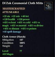 Di'Zok Ceremonial Cloth Mitts