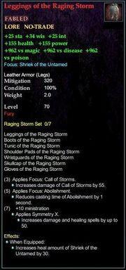 Leggings of the Raging Storm