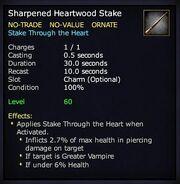 Sharpened Heartwood Stake