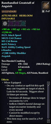Runehandled Greatstaff of Anguish