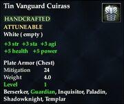 Tin Vanguard Cuirass