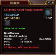 Coldwind Coast forged hammer