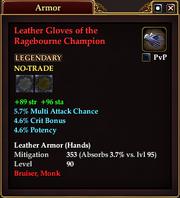 Leather Gloves of the Ragebourne Champion