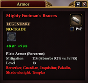 Mighty Footman's Bracers