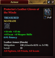 Protector's Leather Gloves of the Winds