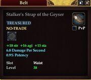 Stalker's Strap of the Geyser