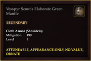 Vesspyr Scout's Elaborate Green Mantle