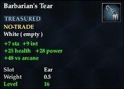 Barbarian's Tear