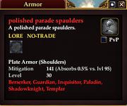 Polished parade spaulders