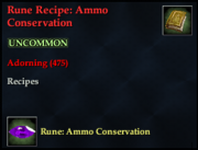 Rune Recipe- Ammo Conservation