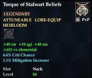 Torque of Stalwart Beliefs