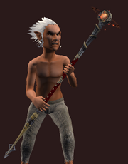 Awakened Staff of Carnage (Equipped)
